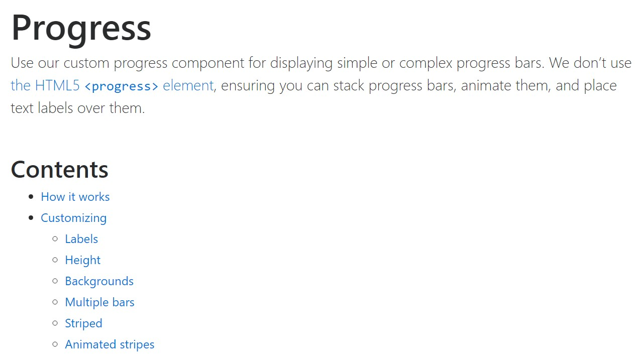 Bootstrap progress bar  approved  documents