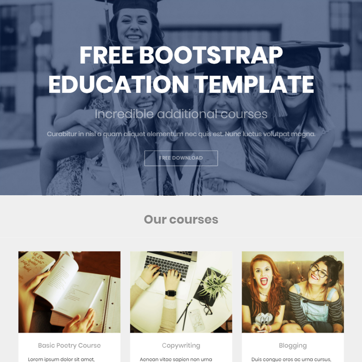 HTML Bootstrap Education Themes