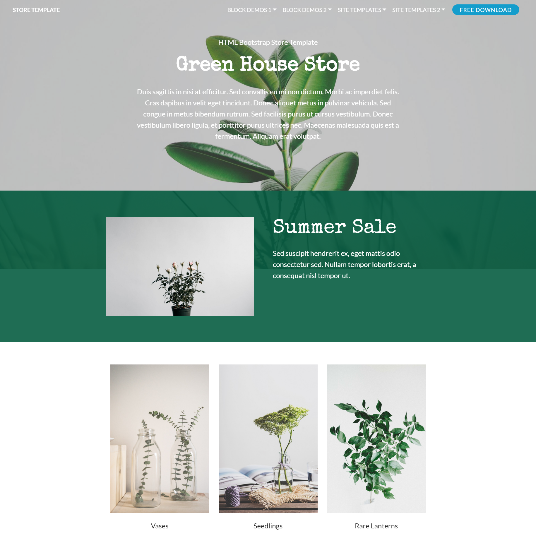 Free Download Bootstrap Store Templates