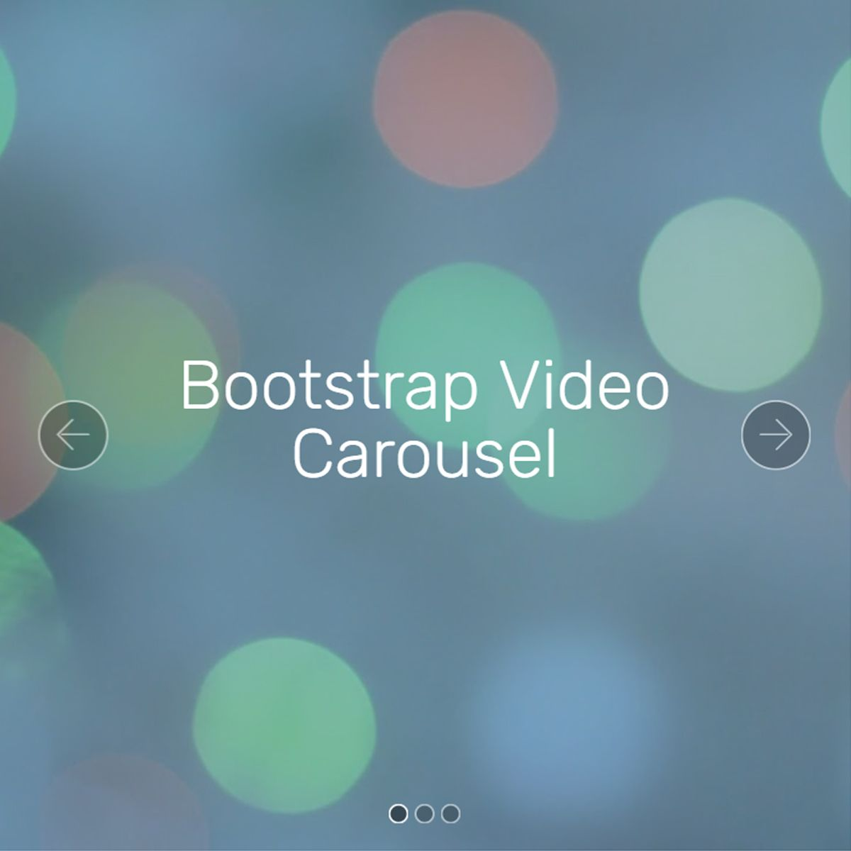 CSS3 Bootstrap Photo Slider
