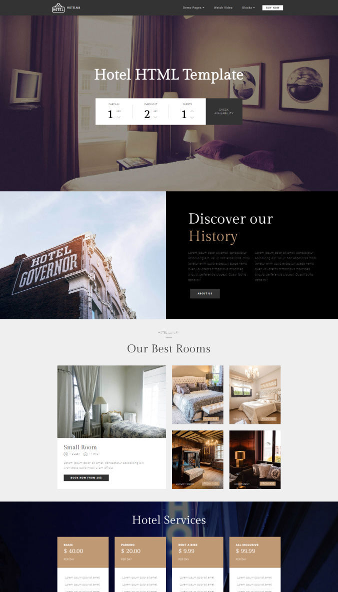 Hotel Website Templates